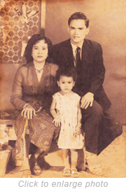Noraeni was adopted by a Malay family. Her father used to be a driver for the Sultan of Kelantan